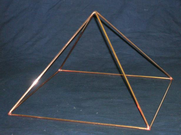 9 inch base all copper pyramid, magic pyramid,  yoga,  powerful dowsing pyramid, meditation pyramid, pyramid power, Merkaba, crystal pyramid, flower essence pyramid, pure pyramid, egyptian pyramid.