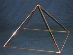 All hand made Copper Pyramid, egyptian, magic, pyramid structure, riki, yoga, magic, crystal, new age pyramid.